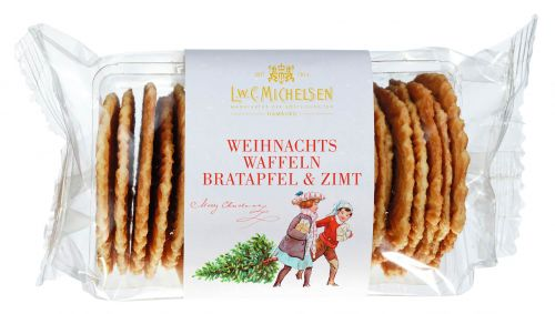 Weihnachts Zuckerbäcker-Waffeln Bratapfel mit Zimt