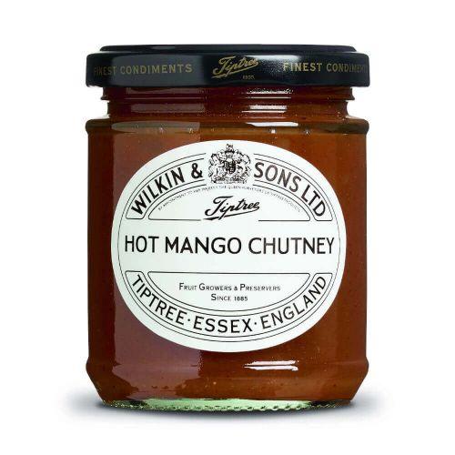 W&S Chut. Hot Mango Chutney 220g Glas